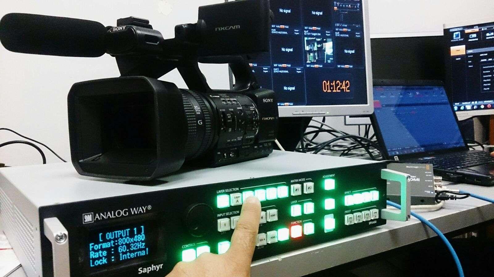 distribución de señal de audio y video